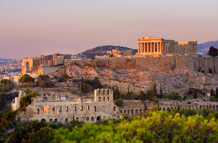 The Acropolis Of Athens Photograph by Scott E Barbour