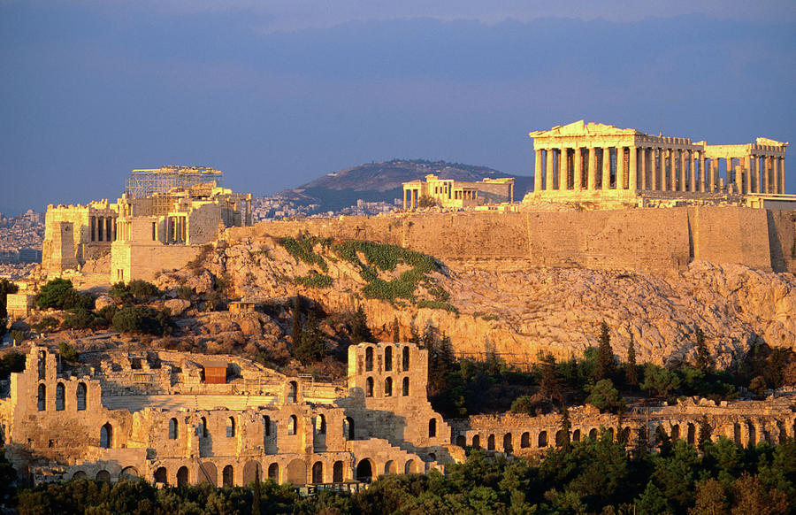 The Acropolis Taken From Phiopappos Photograph by John Elk Iii