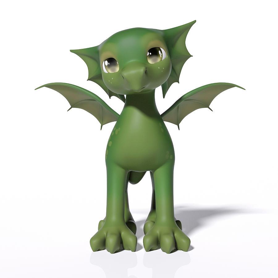 Dragon Digital Art - The Adorable Dragon  by Betsy Knapp