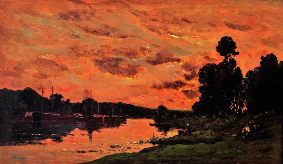 Charles-francois Daubigny Painting - The Afternoon - Digital Remastered Edition by Charles-Francois Daubigny