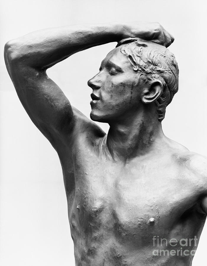 Bust Sculpture - The Age Of Bronze, After 1877 by Auguste Rodin