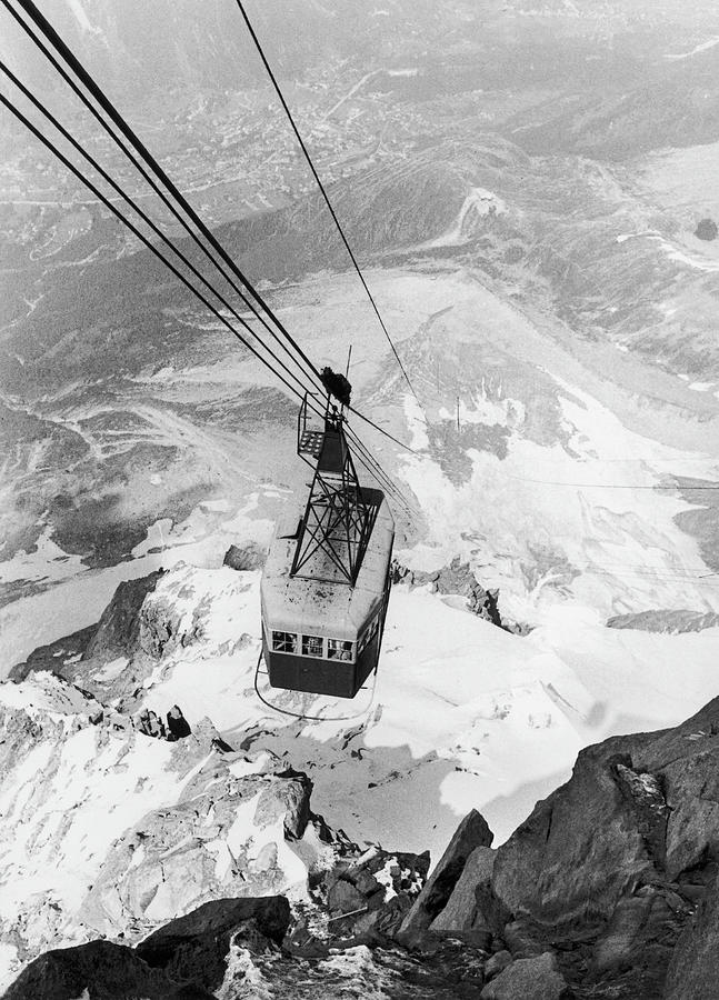 The Aiguille Du Midis Cable Car In Photograph by Keystone-france