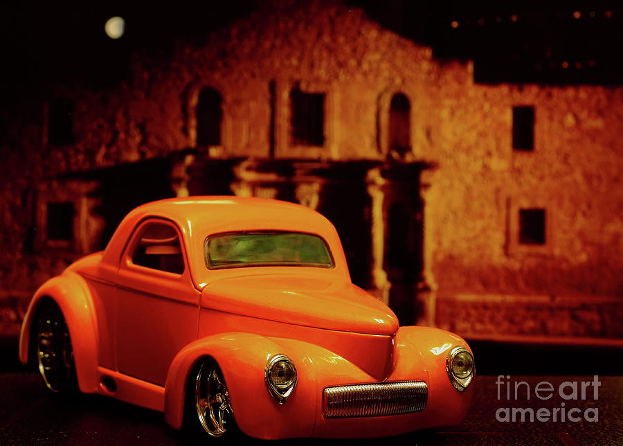The Alamo And The Classic Car-roadster Photograph by Wale Oseni