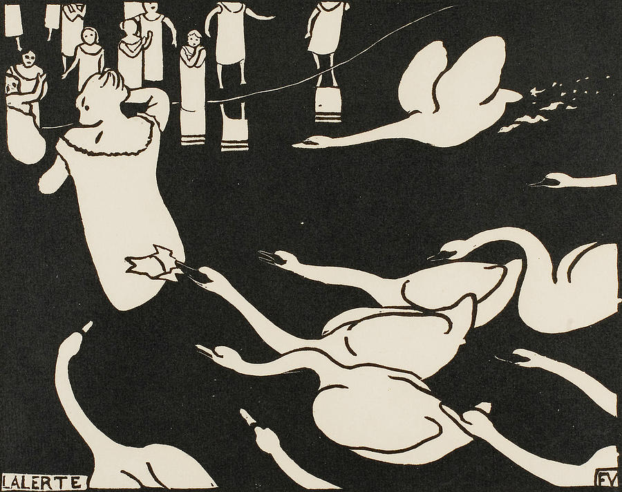 The Alarm by Felix Edouard Vallotton