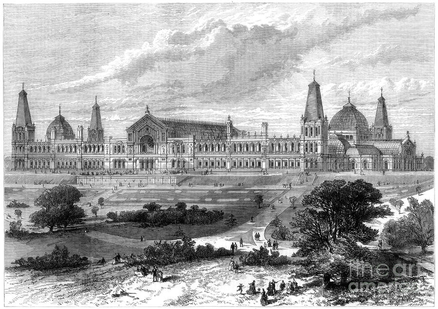 The Alexandra Palace, Muswell Hill Drawing by Print Collector