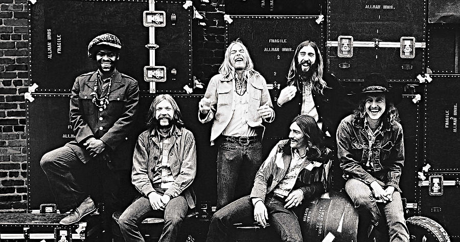 The Allman Brothers Band Digital Art - The Allman Brothers Band by Queso Espinosa