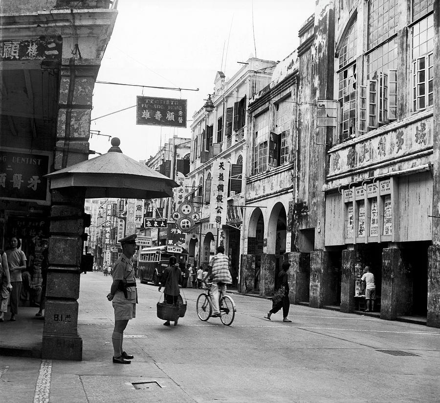The Almeido Ribiera Avenue In Macao 1962 Photograph by Keystone-france