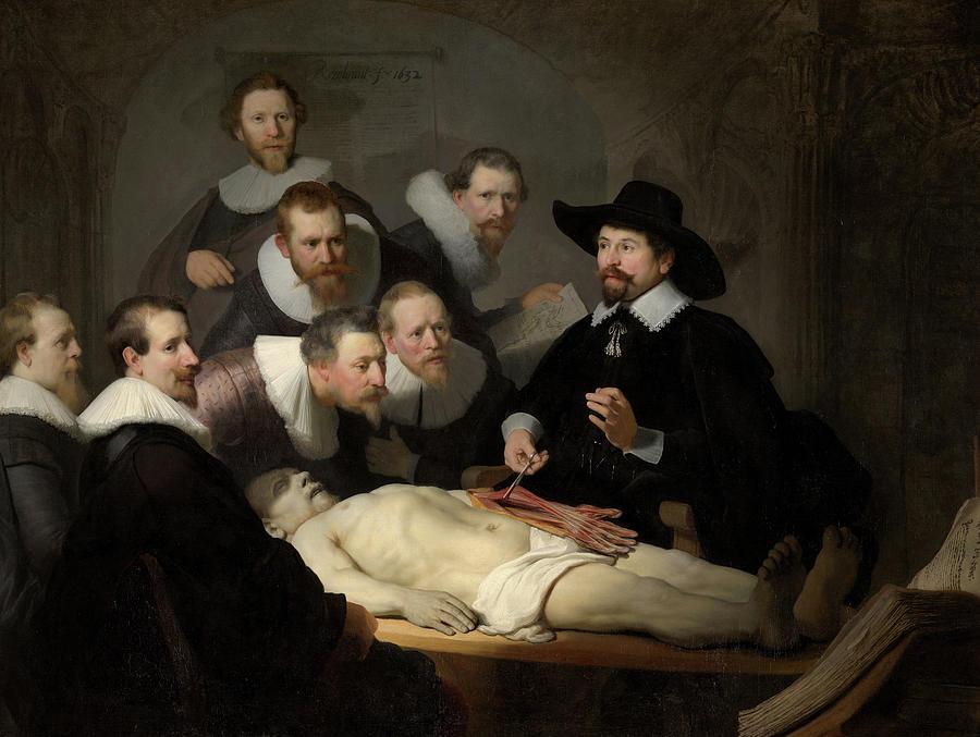Rembrandt Van Rijn Painting - The Anatomy Lesson Of Dr Nicolaes Tulp, Circa 1632 by Rembrandt van Rijn