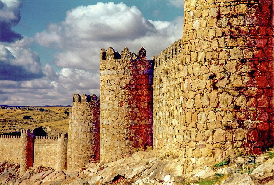 The Ancient City of, Avila, Spain - Medieval City Walls by D Davila