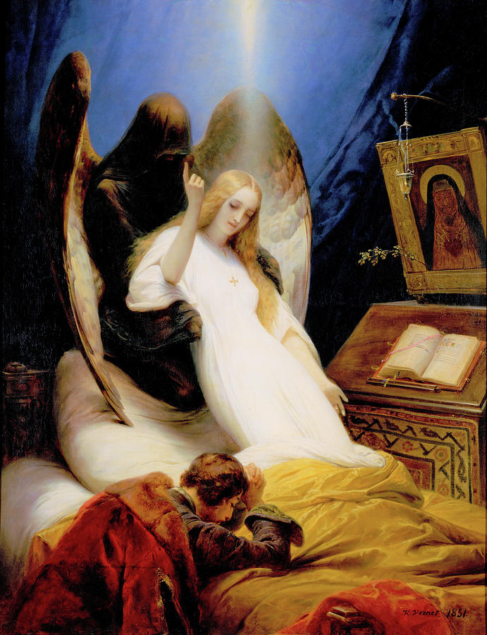 The Angel Of Death Painting - The Angel Of Death - Digital Remastered Edition by Horace Vernet
