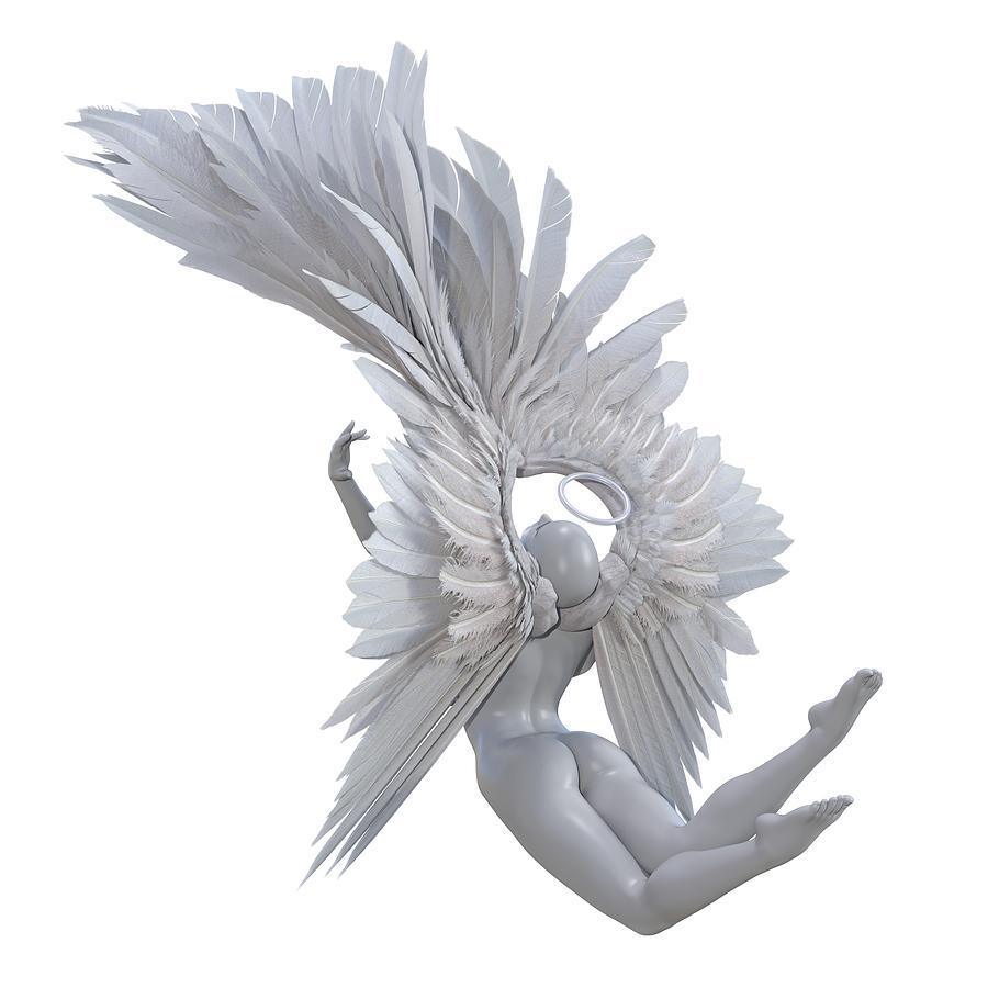 Human Digital Art - The Angelic Gift by Betsy Knapp