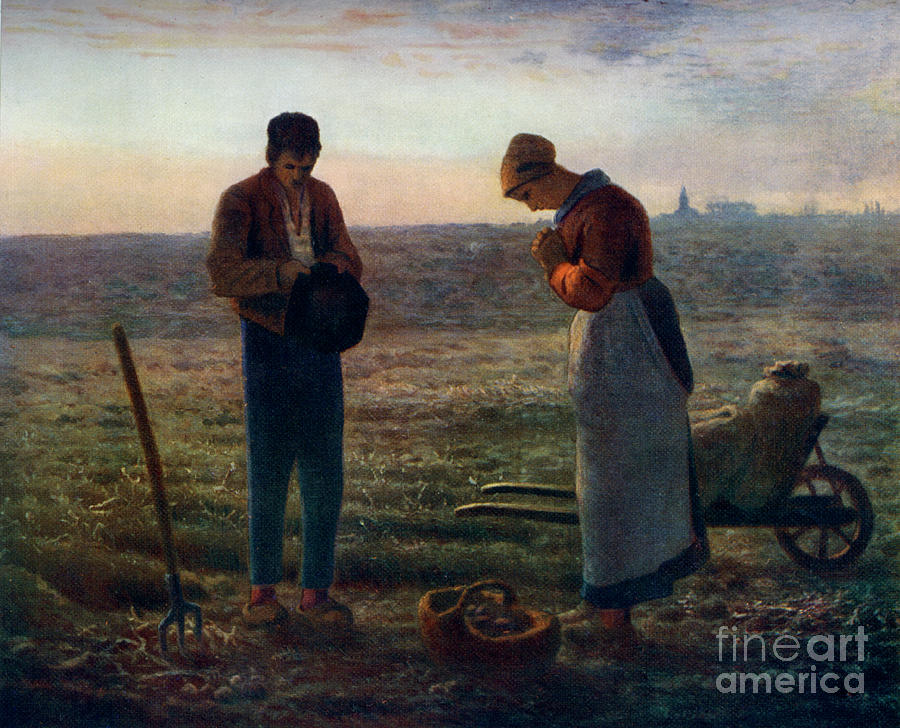 The Angelus, 1857-1859, 1912.artist Drawing by Print Collector