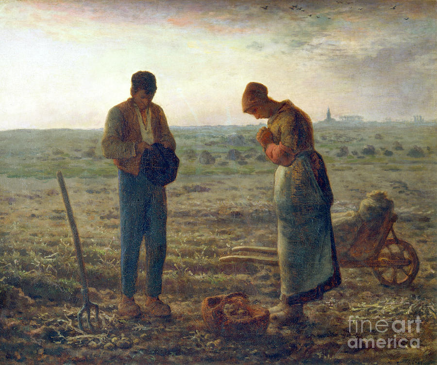 The Angelus, 1857-1859. Artist Jean Drawing by Print Collector
