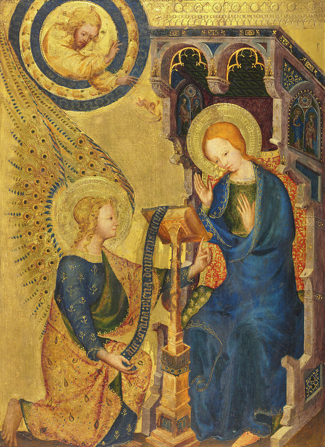 The Annunciation Painting - The Annunciation, 1380 by Unknown