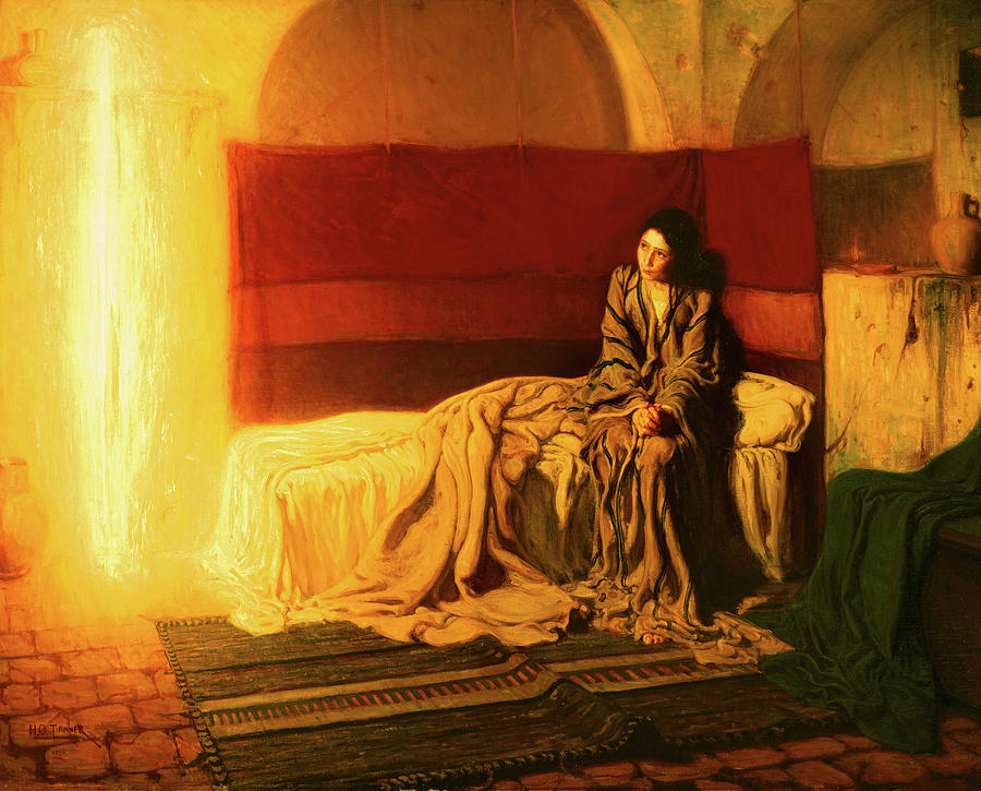 Henry Ossawa Tanner Painting -  The Annunciation, 1898 by Henry Ossawa Tanner