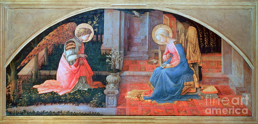 The Annunciation, C1450-1453. Artist Drawing by Print Collector