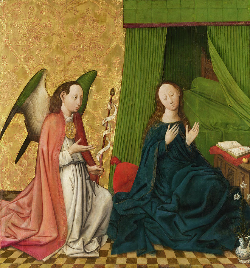 The Annunciation. by South Netherlandish Painter -ca 1460-