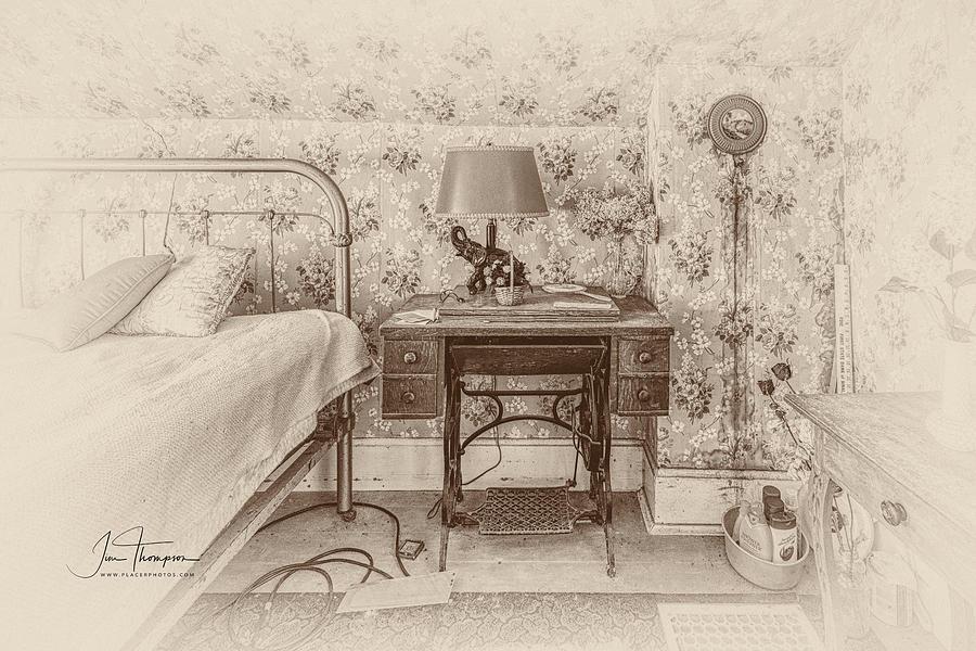 J B Thompson Photograph - The Antique Sewing Machine by Jim Thompson