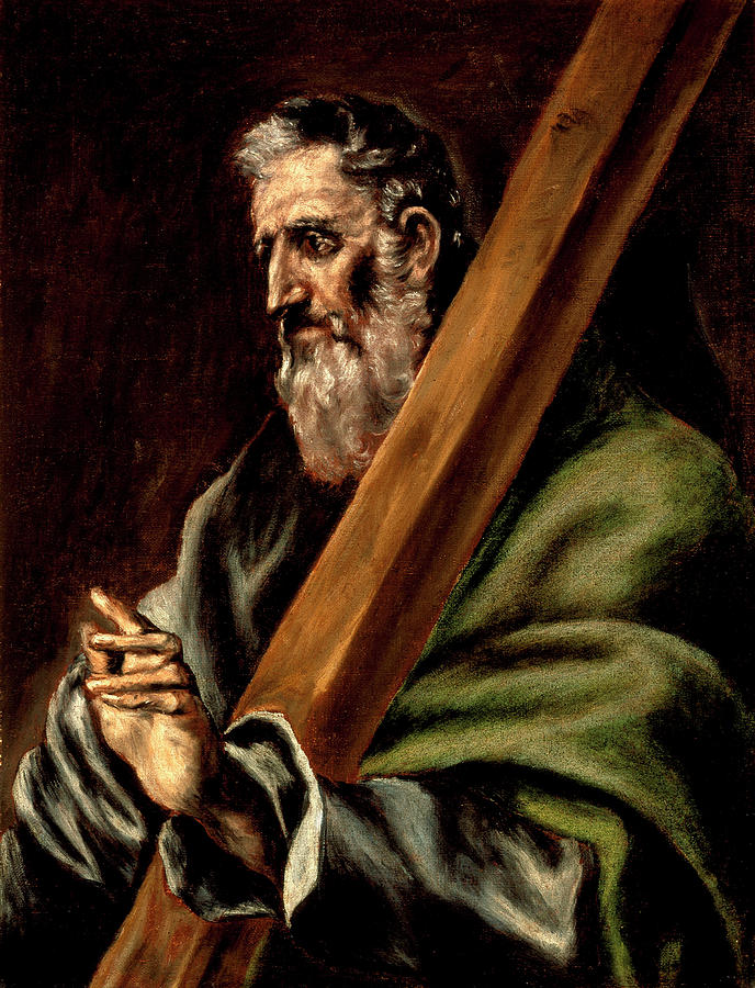 El Painting - The Apostle St  Andrew  by El Greco  school of