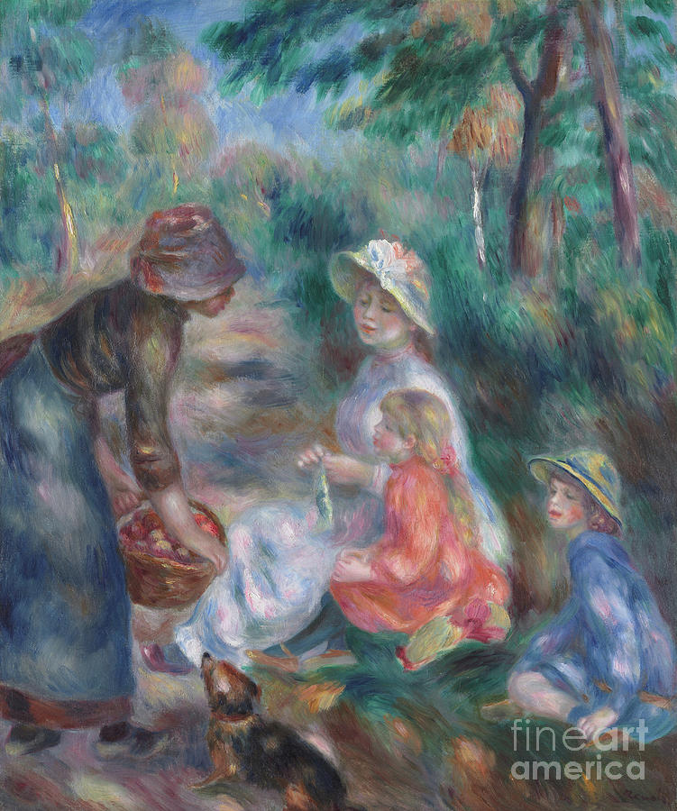 Renoir Painting - The Apple Seller, Circa 1890 by Pierre Auguste Renoir