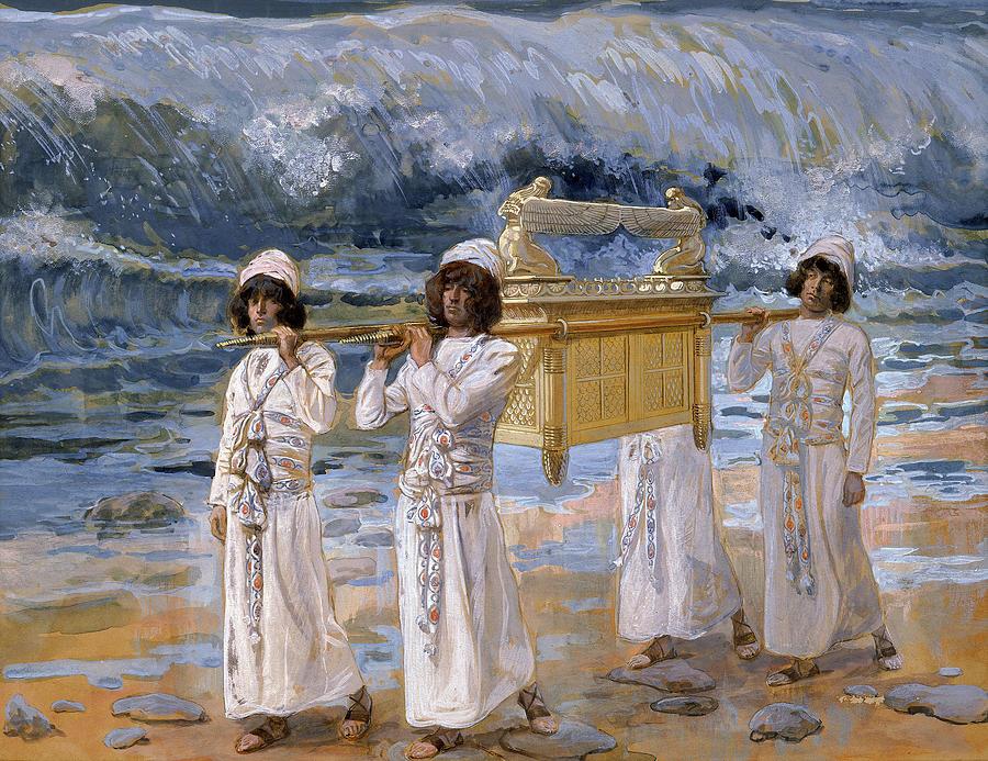 James Tissot Painting - The Ark Passes Over The Jordan, 1902 by James Tissot