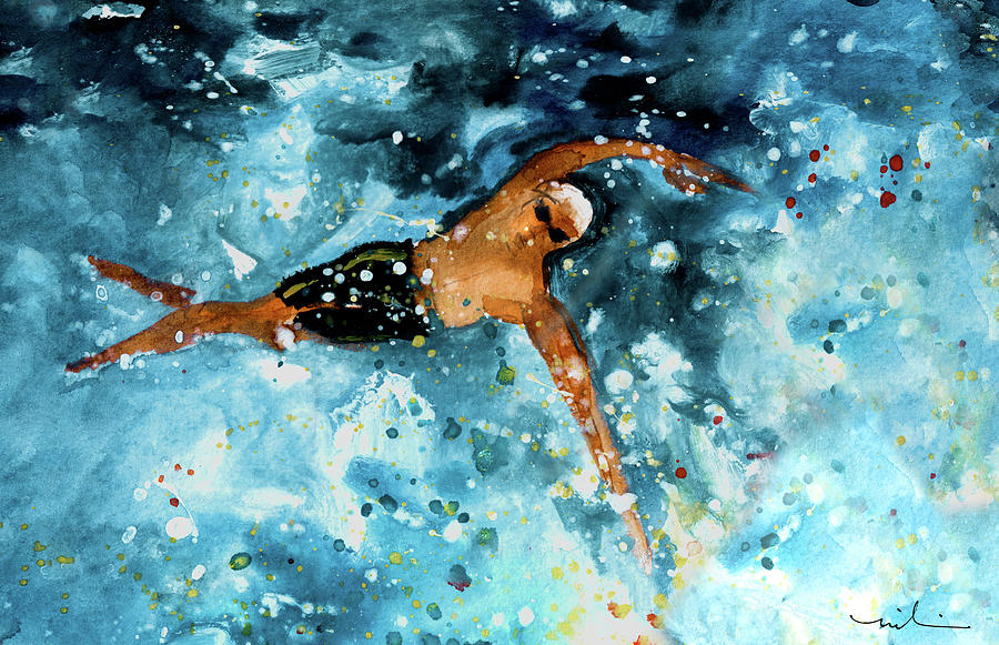 The Art Of Free Style Swimming 02 by Miki De Goodaboom