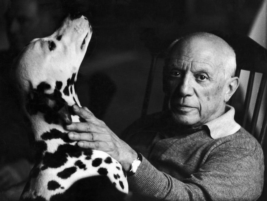 Painter Photograph - The Artist Pablo Picasso 1881-1973 With by Marianne Greenwood