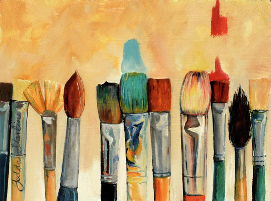 The Artist's Brushes Painting by Gedda Runyon Starlin