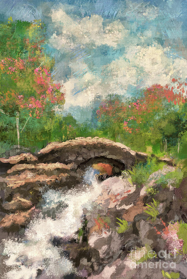 The Ashness Bridge In Spring by Lois Bryan