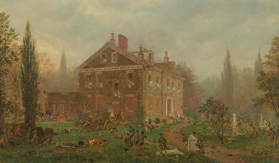The Attack on Chew's House during the Battle of Germantown by Edward Lamson Henry