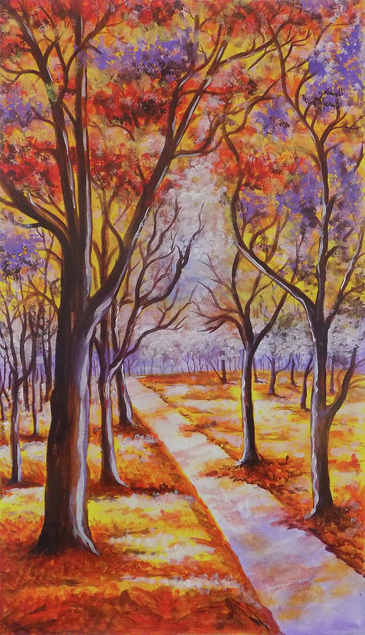 Art Color Trees Drawing