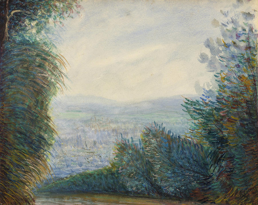 The Auvers Valley on the Oise River by Auguste Renoir