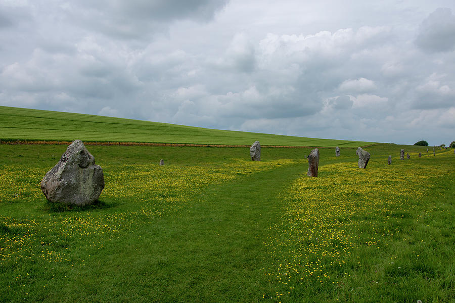 Avebury Photograph - The Avenue At Avebury by Steev Stamford