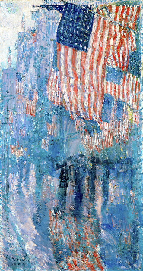 Frederick Childe Hassam Painting - The Avenue In The Rain Frederick Childe Hassam - Digital Remastered Edition by Frederick Childe Hassam