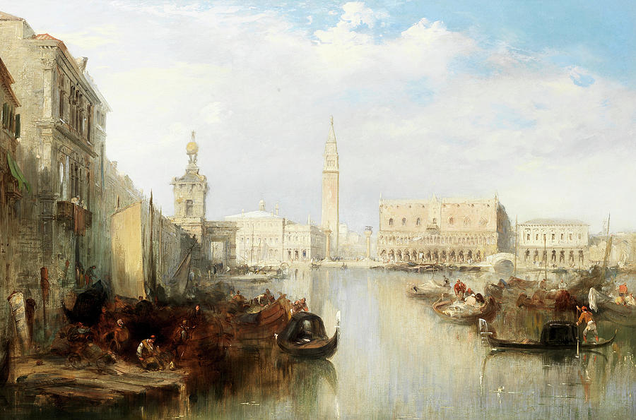 Edward Painting - The Bacino, Venice by Edward Pritchett