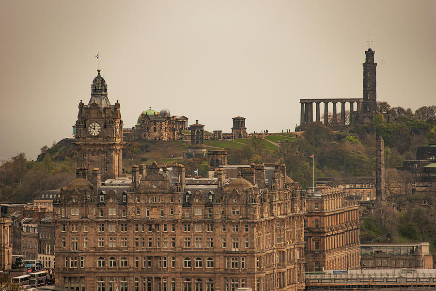 The Photograph - The Balmoral And Calton Hill - Edinburgh Scotland by Bill Cannon