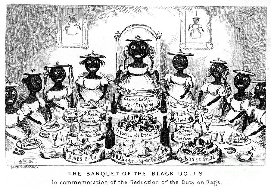 The Banquet Of The Black Dolls, 19th Drawing by Print Collector