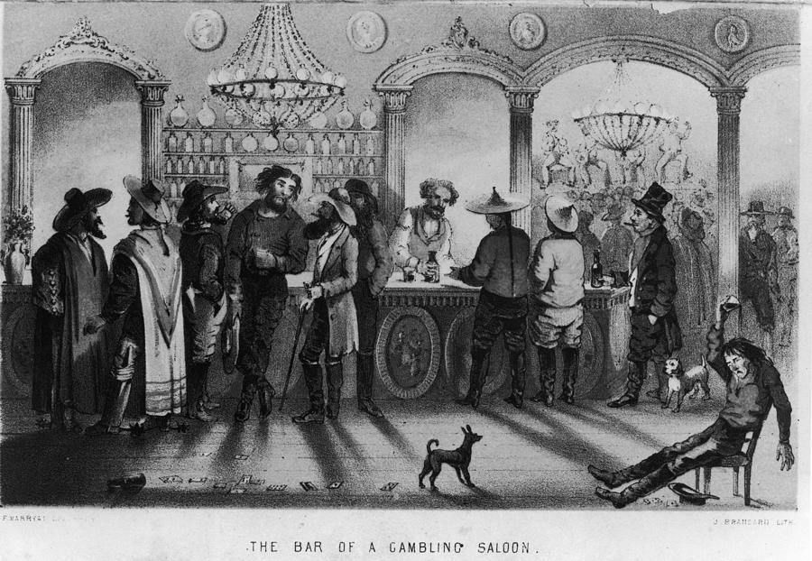 The Bar Of A Gambling Saloon Photograph by Fotosearch