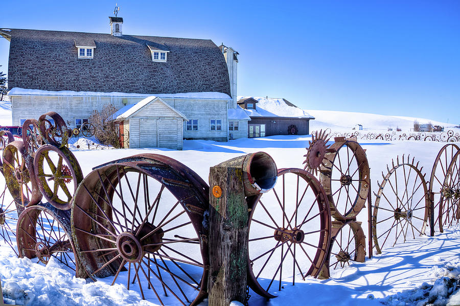 The Barn in Winter by David Patterson