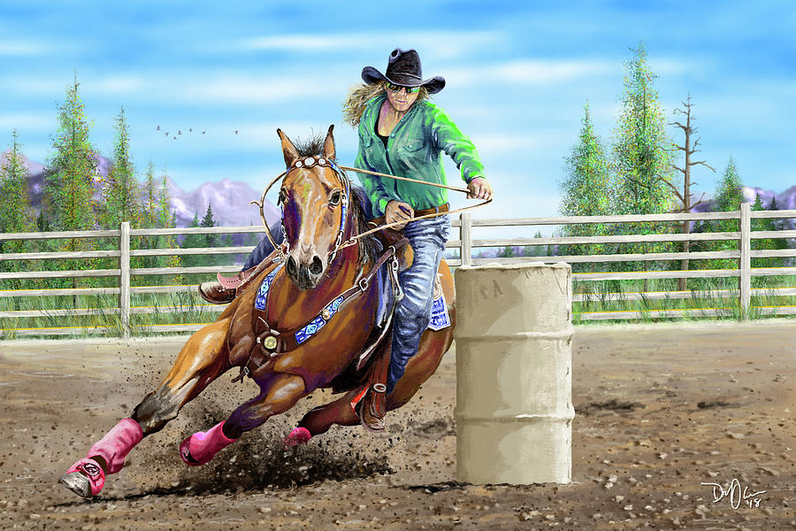 The Barrel Racer by Don Olea