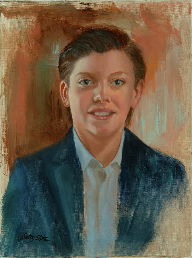Young Boy Painting - The Barrister by Alice Betsy Stone