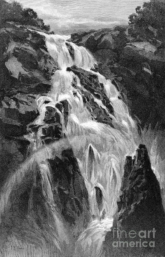 The Barron Falls Near Cairns Drawing by Print Collector