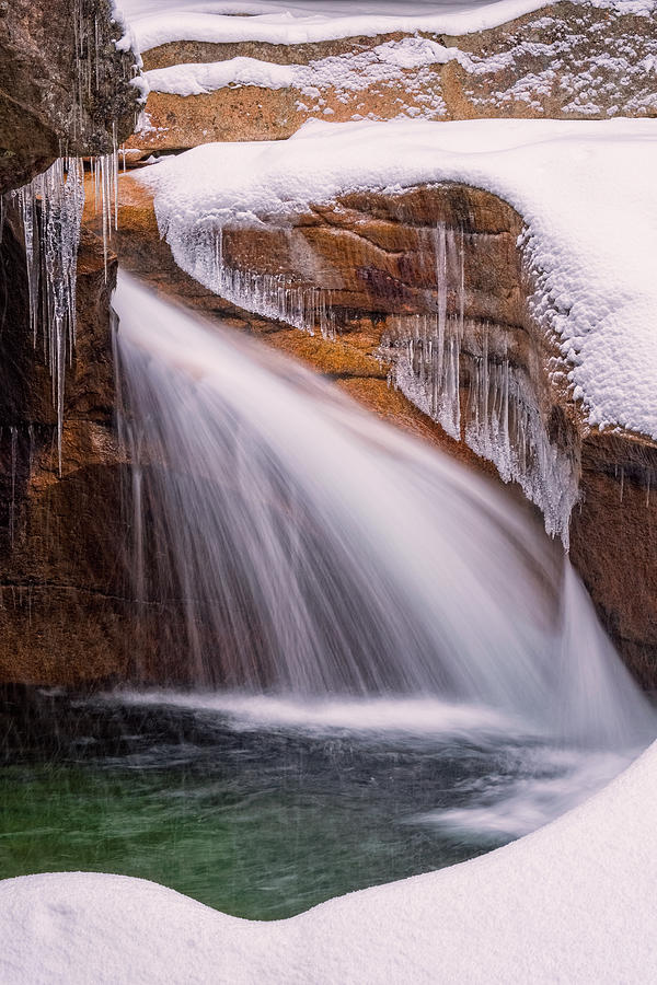 The Basin, Close Up In A Winter Storm by Jeff Sinon