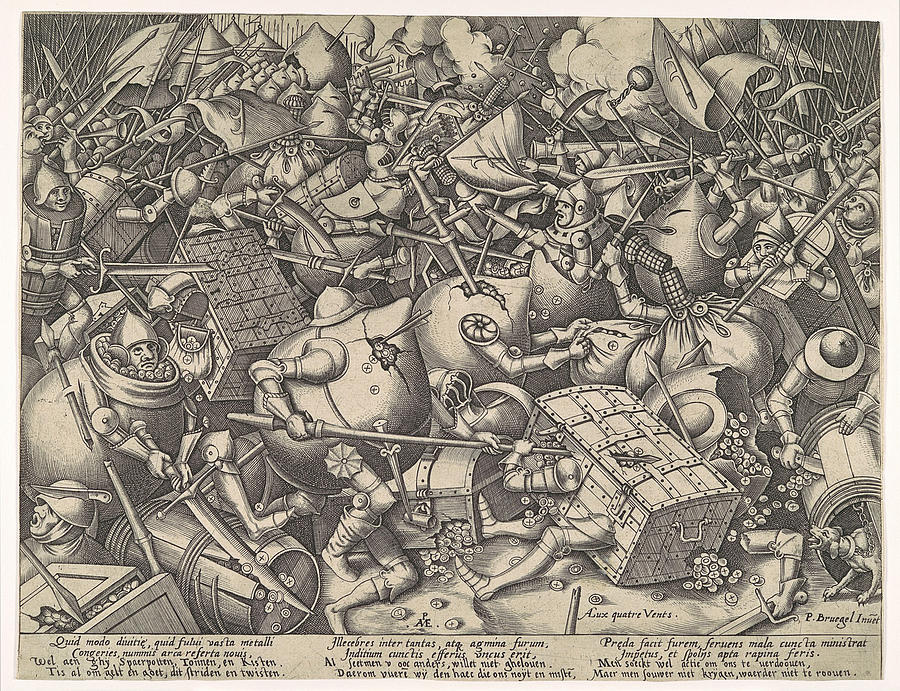 The Battle about Money by Pieter van der Heyden