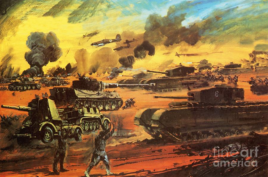 Sand Painting - The Battle Of El Alamein by Graham Coton
