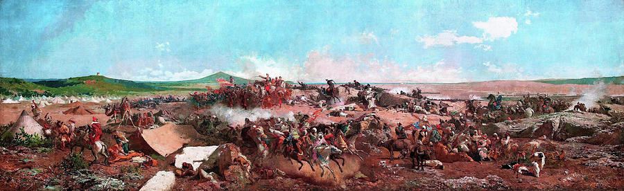 Mariano Fortuny Painting - The Battle Of Tetouan - Digital Remastered Edition by Mariano Fortuny