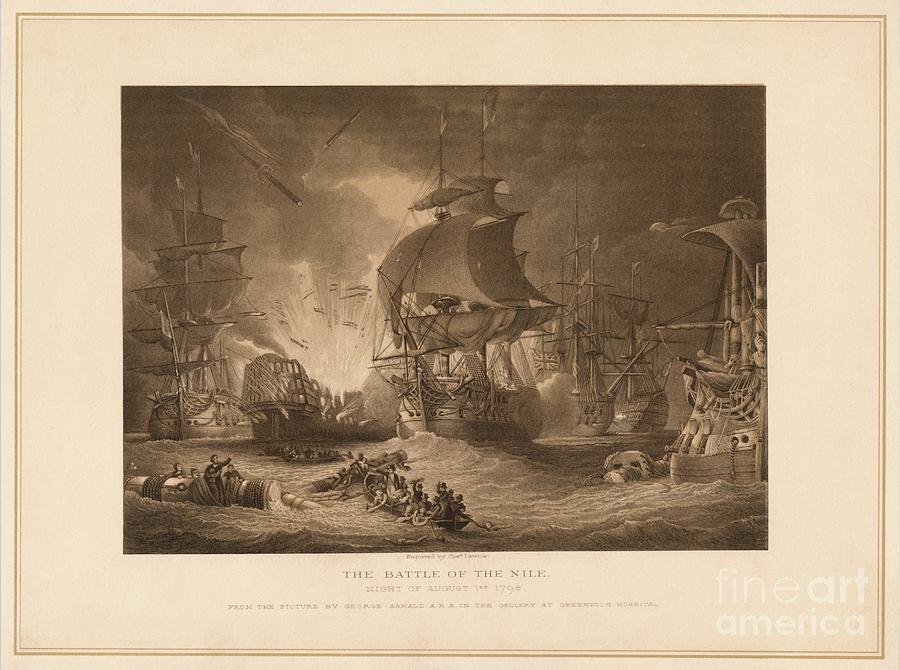 The Battle Of The Nile, 1798 1878 Drawing by Print Collector