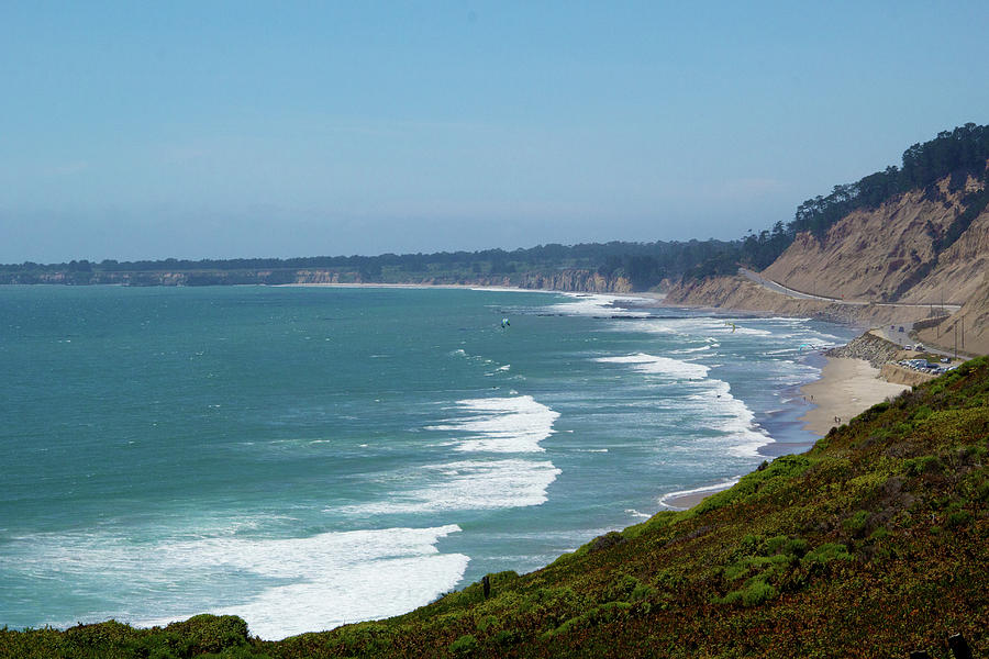 California Photograph - The Beach At Bonny Doon by Marie Leslie