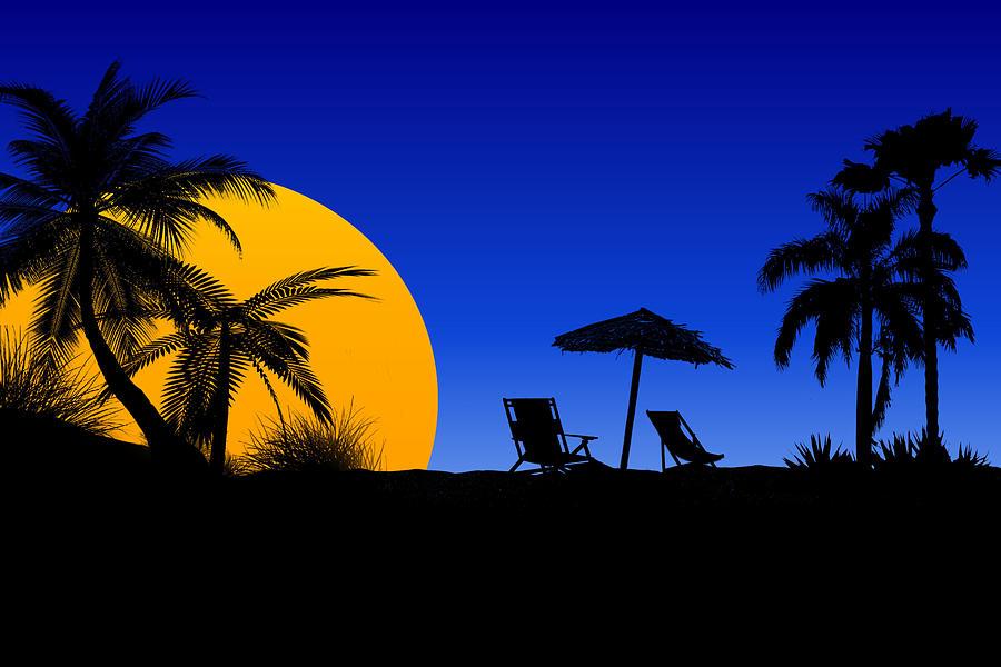 Florida Mixed Media - The Beach At Dusk 1 by Joe Hamilton