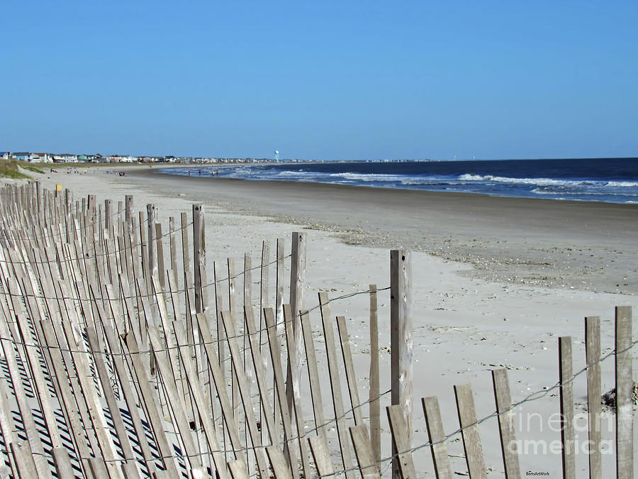 The Beach at Holden Beach North Carolina by Roberta Byram